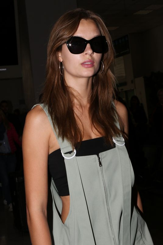 JOSEPHINE SKRIVER at Nice Airport in France 05/18/2019