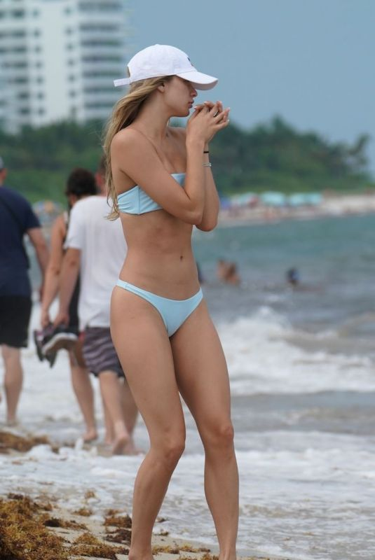 JOSIE CANSECO in Bikini on the Beach in Miami 05/12/2019
