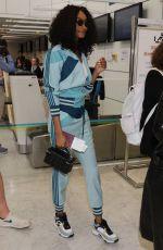 JOURDAN DUNN Arrives at Airport in Nice 05/26/2019