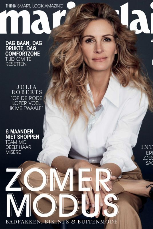 JULIA ROBERTS in Marie Claire Magazine, Netherlands June 2019