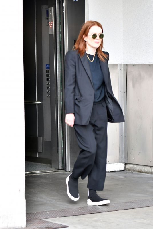 JULIANNE MOORE at LAX Airport in Los Angeles 05/09/2019
