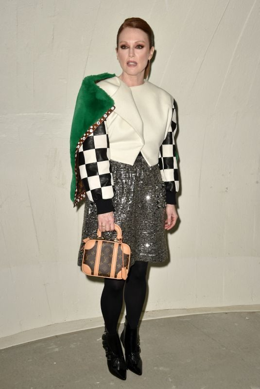 JULIANNE MOORE at Louis Vuitton Cruise 2020 Fashion Show at JFK Airport in New Yokr 05/08/2019