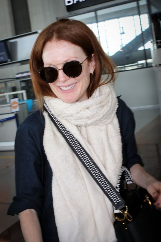 JULIANNE MOORE at Nice Airport 05/19/2019