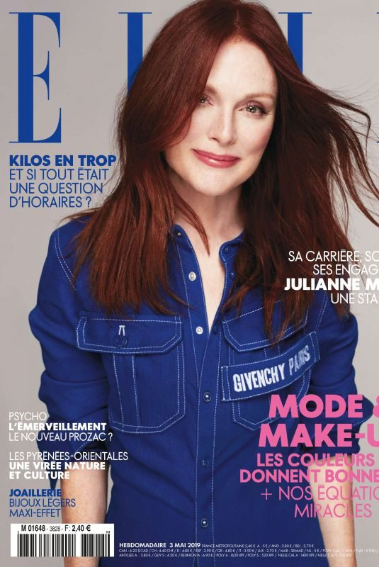 JULIANNE MOORE in Elle Magazine, France May 2019