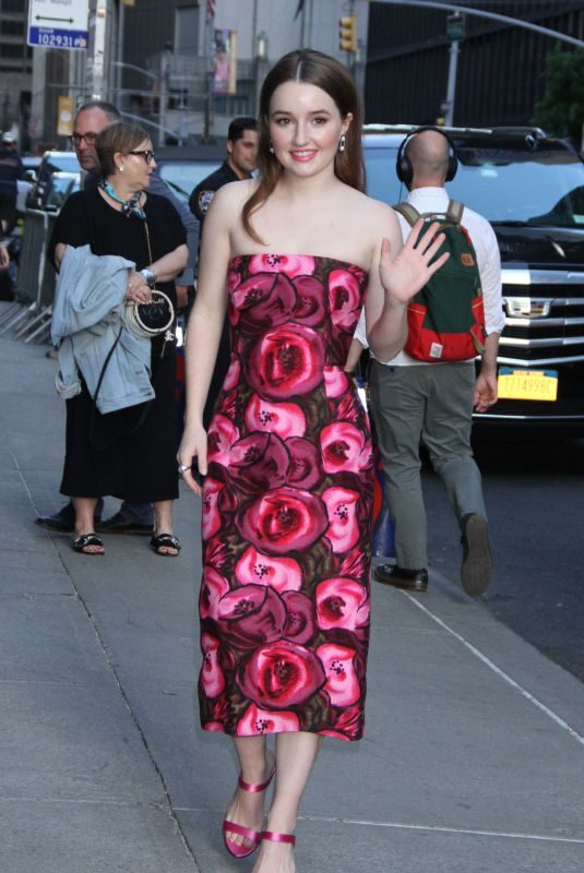 KAITLYN DEVER Arrives at Late Show with Stephen Colbert in New York 05/22/2019