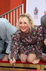 KALEY CUOCO at The Big Bang Theory Handprint Ceremony in Hollywood 05/01/2019