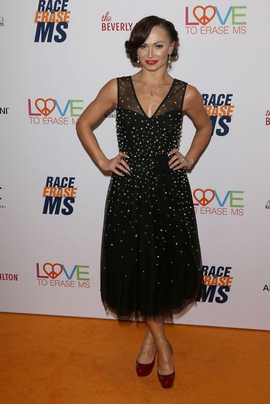 KARINA SMIRNOFF at Race to Erase MS Gala in Beverly Hills 05/10/2019
