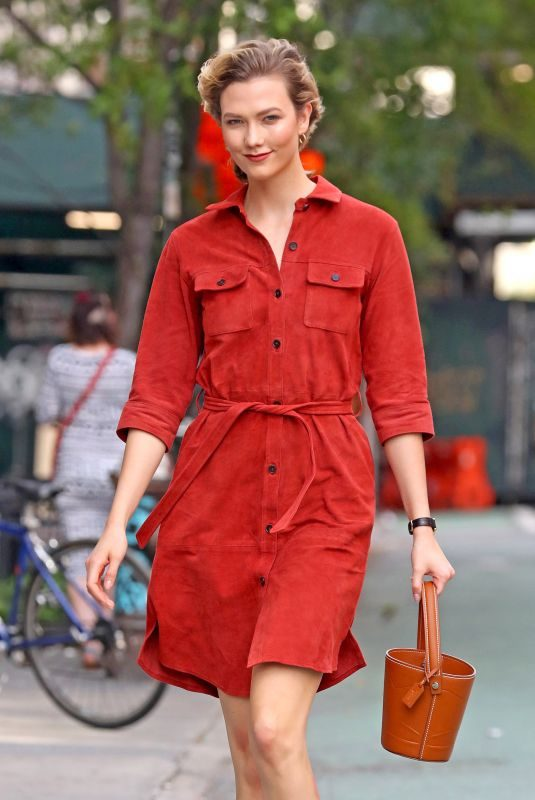 KARLIE KLOSS Out and About in New York 05/20/2019