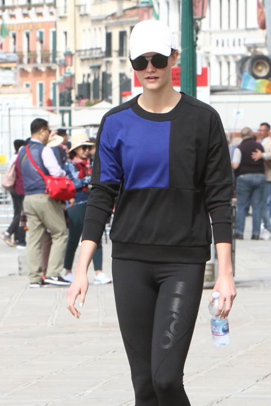 KARLIE KLOSS Out and About in Venice 05/11/2019