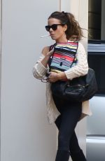KATE BECKINSALE Having a Smoke Out in Los Angeles 05/21/2019