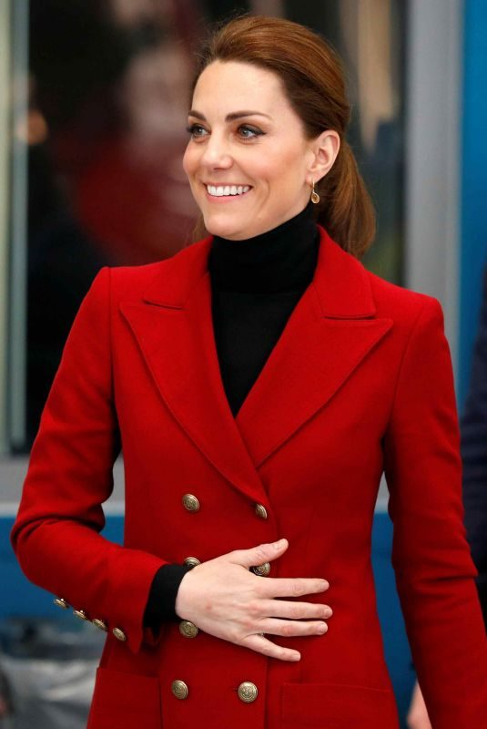 KATE MIDDLETON at Caernarfon Coastguard Search and Rescue Helicopter Base in Caernarfon 05/08/2019