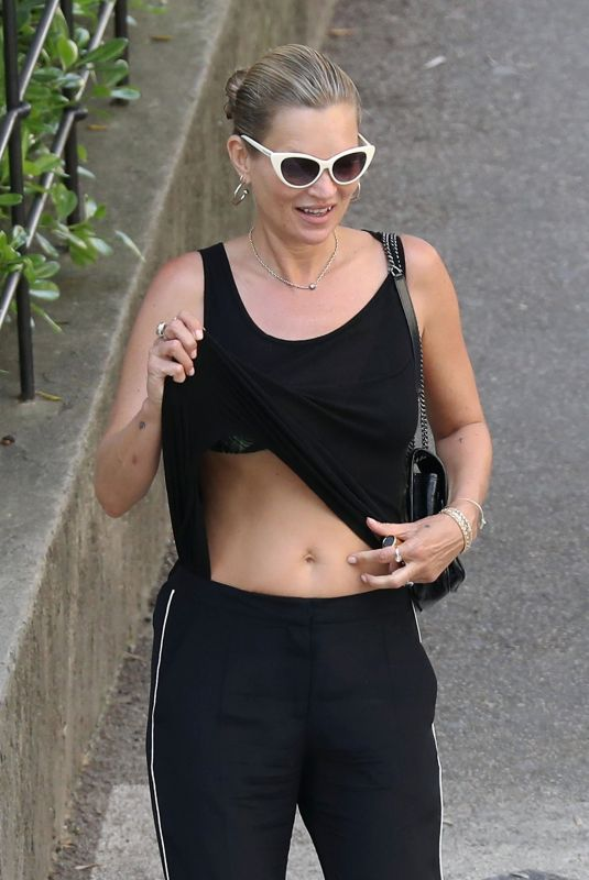 KATE MOSS Out in Saint Paul De Vence 05/15/2019