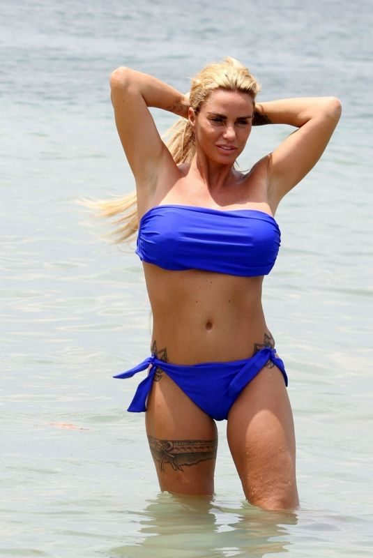 KATIE PRICE in Bikini at a Beach in Turkey 04/25/2019