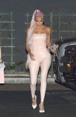 KHLOE KARDASHIAN in Tight Latex Night Out in West Hollywood 05/21/2019