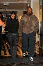 KIM KARDASHIAN and Kanye West Leaves Their Hotel in New York 05/07/2019