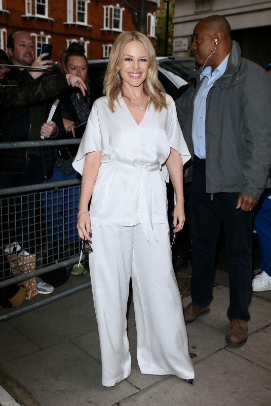 KYLIE MINOGUE Arrives at Radio 2 in London 05/03/2019