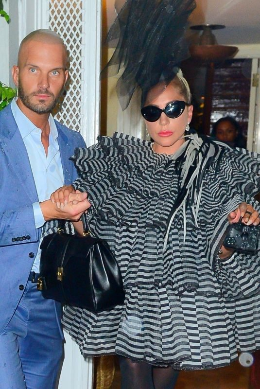 LADY GAGA Leaves Pre-met Party at Anna Wintour's Apartment in New York 05/05/2019