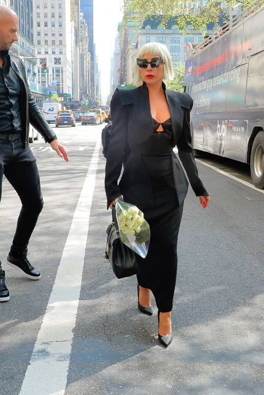 LADY GAGA Out in New York 05/08/2019