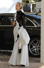 LADY VICTORIA HERVEY Leaves Hotel Martinez in Cannes 05/22/2019