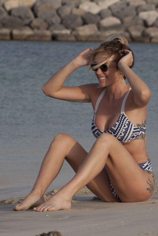 LAURA ANDERSON in Bikini at a Beach in Dubai 02/12/2019