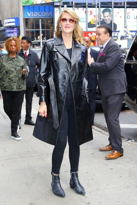 LAURA DERN Leaves Good Morning America in New York 05/28/2019