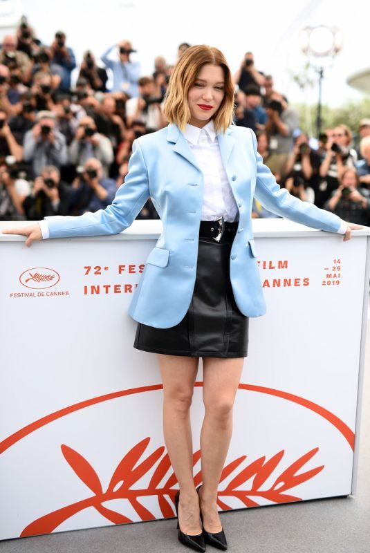 LEA SEYDOUX at Oh Mercy! Photocall at 2019 Cannes Film Festival 05/23/2019