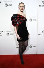 LILY COLLINS at Extremely Wicked, Shockingly Evil and Vile Screening at 2019 Tribeca Film Festival 05/02/2019