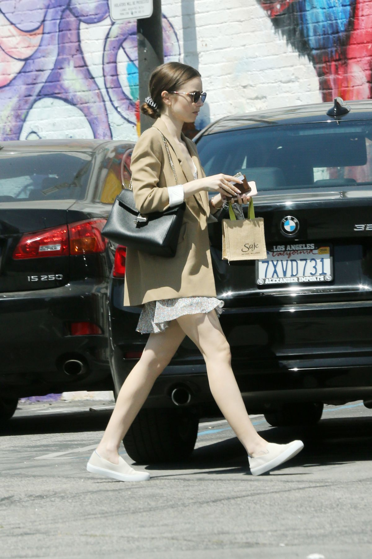 LILY COLLINS at Mind & Body Acupuncture in Los Angeles 05 ...