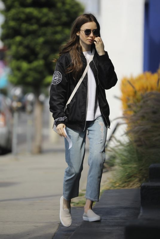 LILY COLLINS Out and About in Los Angeles 05/11/2019