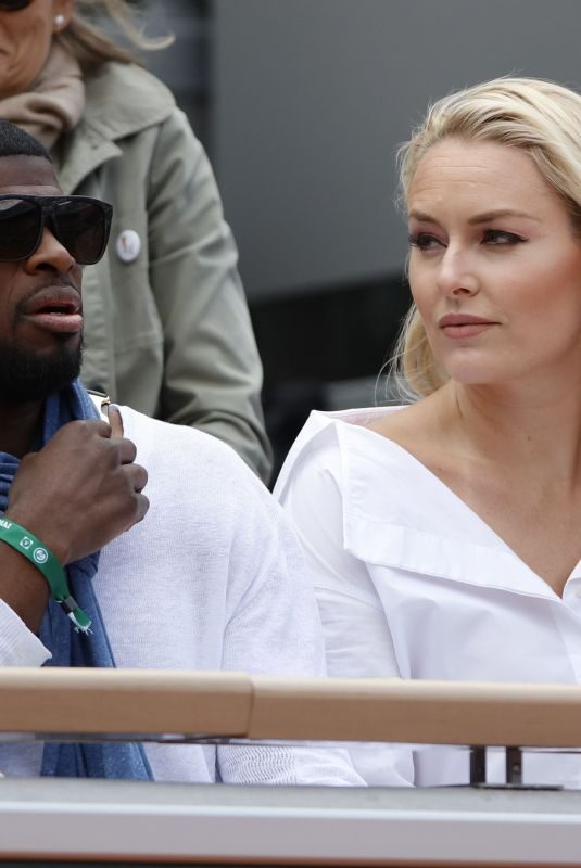 LINDSEY VONN and Pernell Karl Subban at French Tennis Open at Roland Garros in Paris 05/28/2019