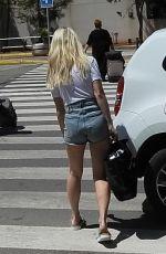 LOTTIE MOSS in Denim Shorts Out in Ibiza 05/06/2019