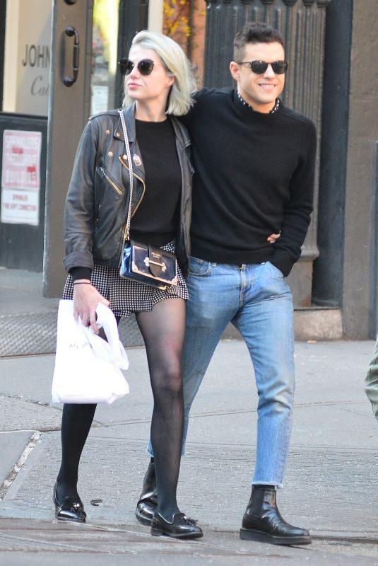 LUCY BOYNTON and Rmi Malek Out in New York 05/08/2019