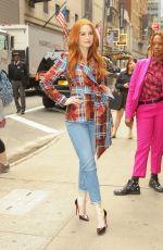 MADELEINE PETSH Arrives at Strahan & Sara in New York 05/07/2019