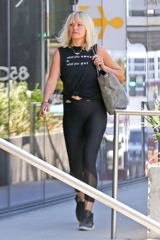MALIN AKERMAN Arrives at a Gym in West Hollywood 05/21/2019