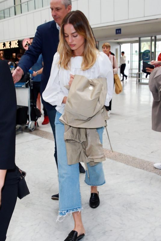 MARGOT ROBBIE Arrives at Airport in Nice 05/24/2019