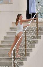 MARGOT ROBBIE in Swimsuit at Hotel Du Cap-eden-roc in Cannes 05/22/2019