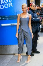MEAGAN GOOD Arrives at Good Morning America in New York 04/29/2019