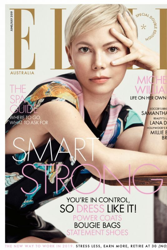MICEHELLE WILLIAMS in Elle Magazine, Australia June 2019