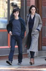 MICHELLE DOCKERY on the Set of Defending Jacob in Boston 05/08/2019