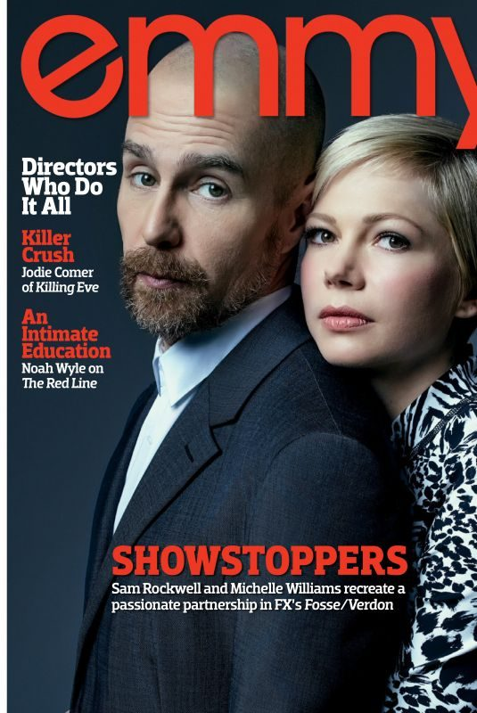 MICHELLE WILLIAMS and Sam Rockwell in Emmy Magazine, April 2019