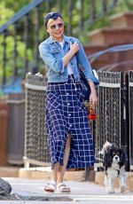 MICHELLE WILLIAMS Out with Her Dog in New York 05/23/2019