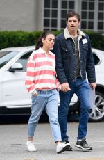 MILA KUNIS and Ashton Kutcher Out in Los Angeles 05/15/2019