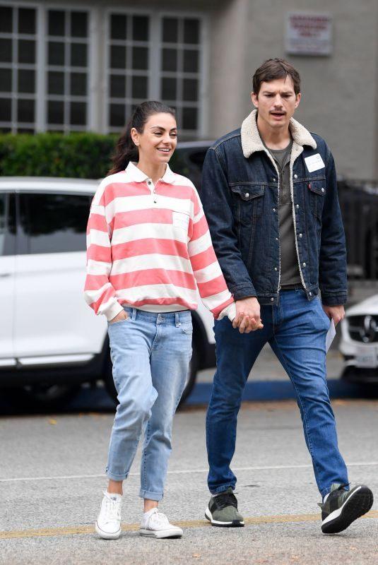 MILA KUNIS and Ashton Kutcher Tour a Potential Preschool in Los Angeles 05/15/2019