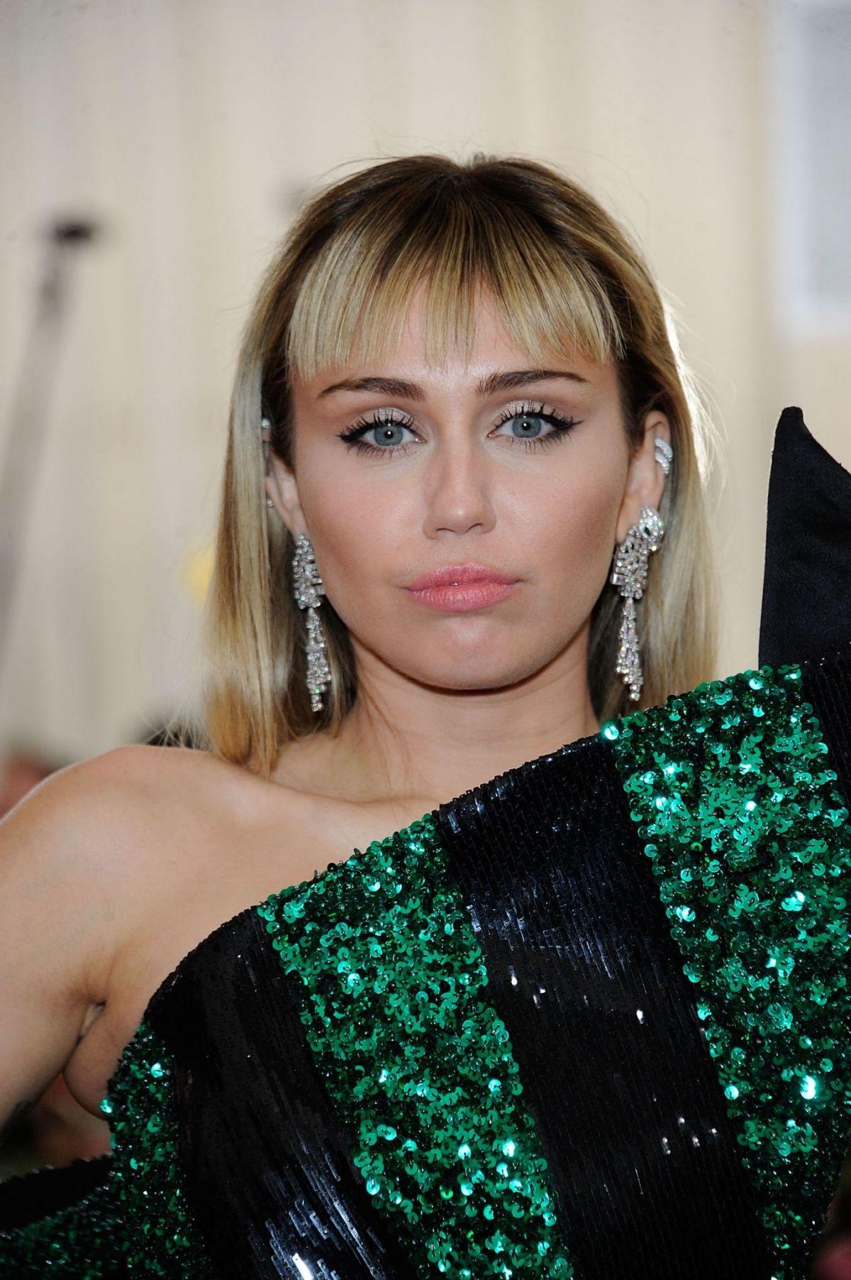 MILEY CYRUS at 2019 Met Gala in New York 05/06/2019 ... Miley Cyrus
