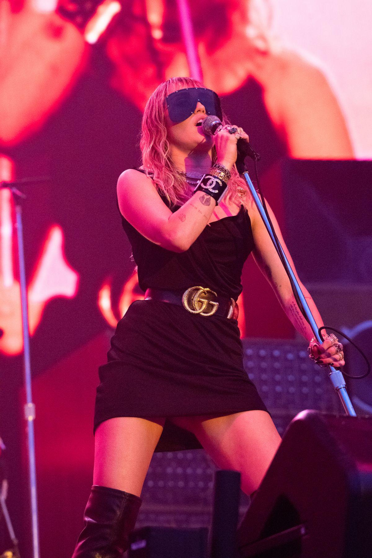 MILEY CYRUS Performs at BBC Radio 1 Big Weekend in ...