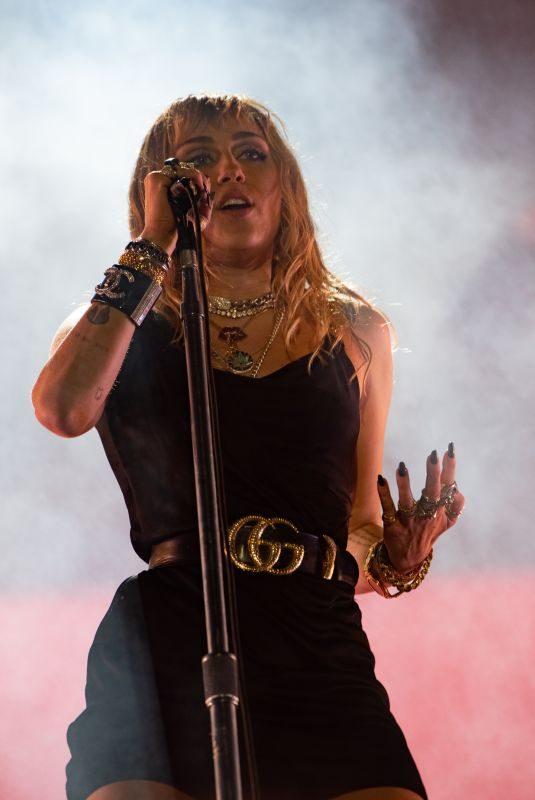 MILEY CYRUS Performs at BBC Radio 1 Big Weekend in Middlesborough 05/25/2019