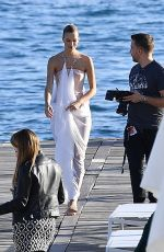 NADINE LEOPOLD at a Photoshoot in Cannes 05/15/2019