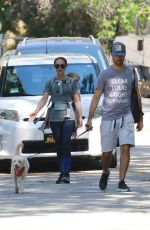 NATALIE PORTMAN and Benjamin Millepied Out with Their Dog in Los Feliz 05/29/2019