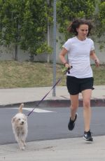 NATALIE PORTMAN Out Running with Her Dog in Los Angeles 05/14/2019