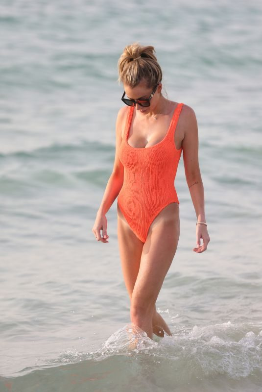 OLIVIA ATTWOOD in Swimsuit at a Beach in Dubai 05/11/2019